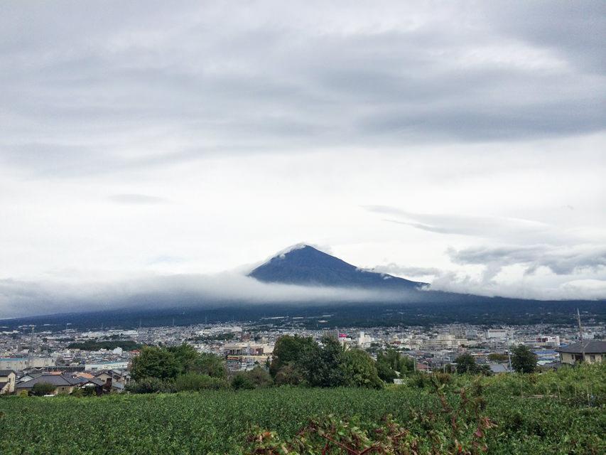 台風通過直後の朝