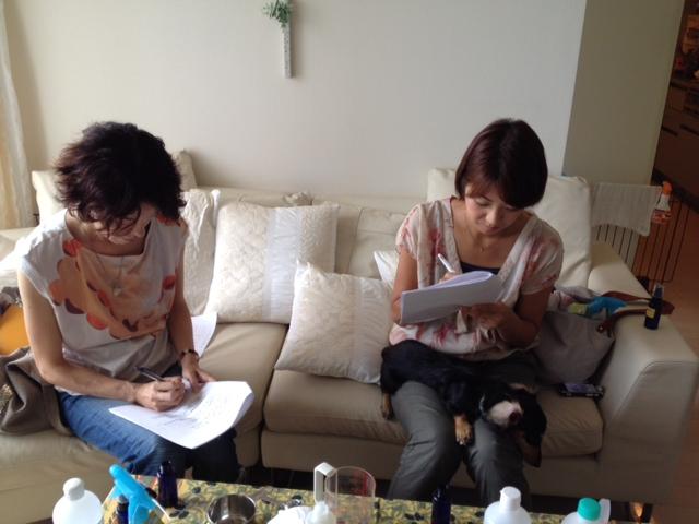 愛犬のためのアロママッサージ講座(2012.9.15)東京教室